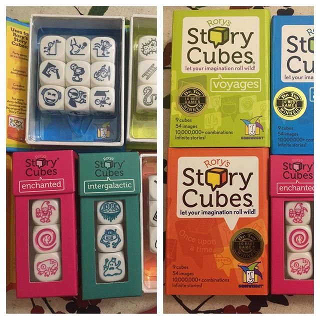"""I've been using @rorys_storycubes with some of my students at my field placement (both during group sessions and individual counseling sessions). I've found it's a great way to get the students to think about situations from different angles. First they come up with a story, and then they can work out how their characters can modify their behaviors in various ways (i.e. """"What does the Alien need to do differently to be a better friend?"""" """"What could the wizard do to get more positive attention?""""). Sometimes the students like turning the dice over until they find pictures that express their current emotions/feelings about something. It's been an incredible tool and it's super reasonably priced #GradSchool #UB #SocialWork #SchoolOfSocialwork #MSWStudent #Training #RoadToMSW #SchoolSocialWork #Portfolio #FieldPlacement @UBSSW"""