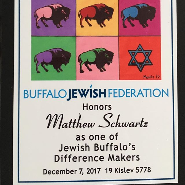 Honored to be recognized as a Difference Maker by the #Buffalo #Jewish #Federation for my work with Food Gnomes! Wish I could have been in attendance when these beautiful plaques were given out (sadly I had a chest infection that evening), but happy to receive mine just the same! Thank you to the entire Food Gnomes leadership team (and of course the Jewish Community and the Community of Pilgrim - St. Luke's and El Nuevo Camino United Church of Christ for your continued support!)! 🙂